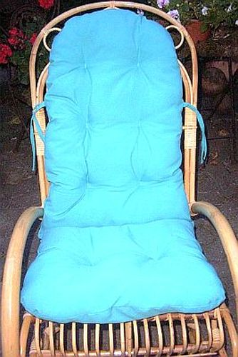 schaukelstuhl auflage polster kissen farbe t rkis ebay. Black Bedroom Furniture Sets. Home Design Ideas